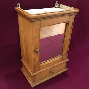 1930s French Pine Bathroom Cabinet