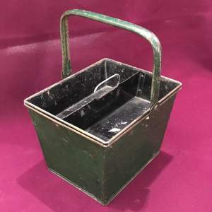 1930s Green Metal Cleaning Caddy