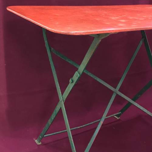 1930s Vintage French Folding Table image-1