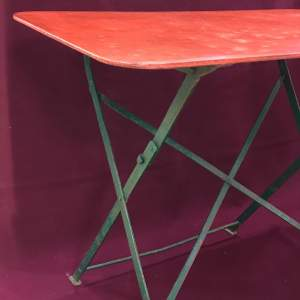 1930s Vintage French Folding Table