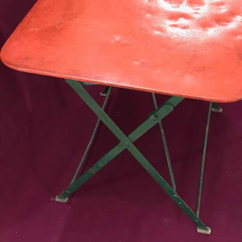 1930s Vintage French Folding Table image-4