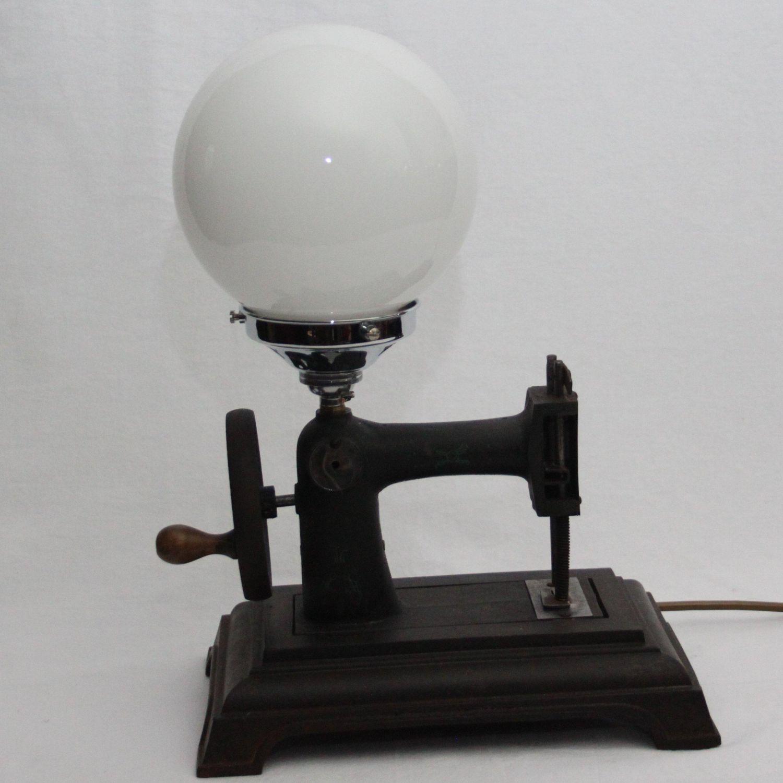 Antique Miniature Sewing Machine Bespoke Desk Lamp