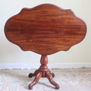 Antique Walnut Tilt Top Table