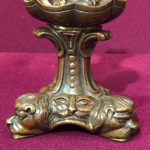 Pair of Cast Bronze Candleholders image-3