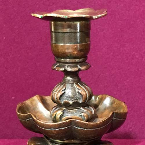 Pair of Cast Bronze Candleholders image-4