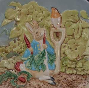 Beswick Plate  -  Peter Rabbit