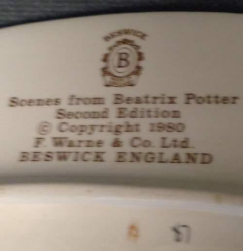 Beswick Plate  -  Peter Rabbit image-4