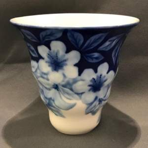 Limoges French Blue and White Vase by Tharaud