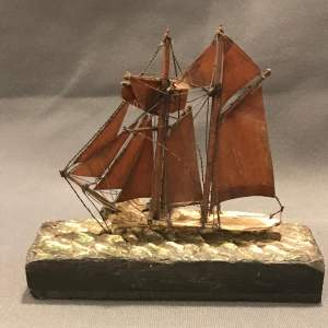 Victorian Model Of a Sailing Boat