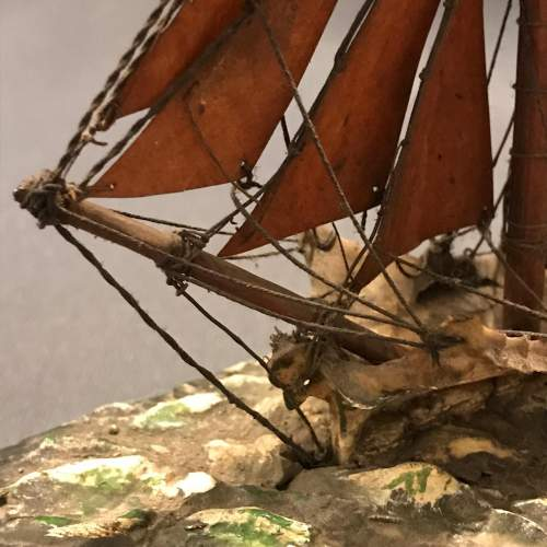 Victorian Model Of a Sailing Boat image-2