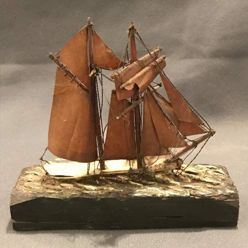 Victorian Model Of a Sailing Boat image-4
