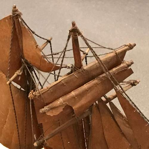 Victorian Model Of a Sailing Boat image-5