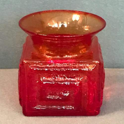Rare Red Dartington Glass Vase by Frank Thrower image-4