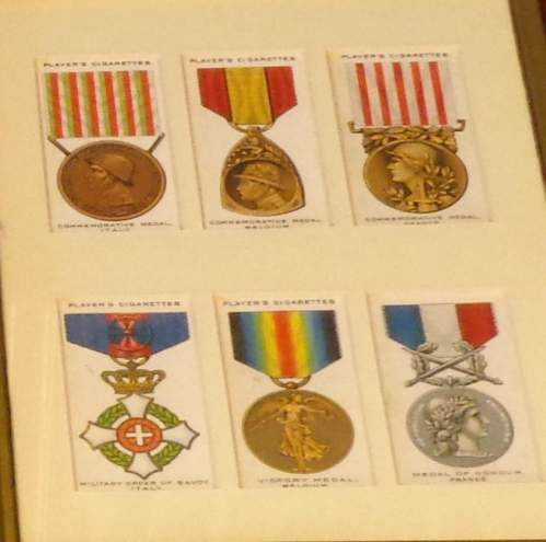 Framed Cigarette Cards  -  War Decorations and Medals Circa 1927 image-5