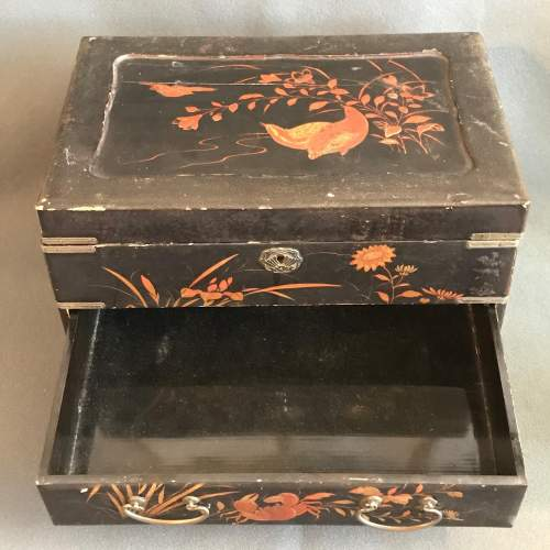 Oriental Lacquer Jewellery Work Box image-2