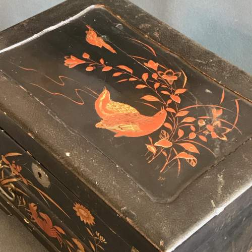 Oriental Lacquer Jewellery Work Box image-5