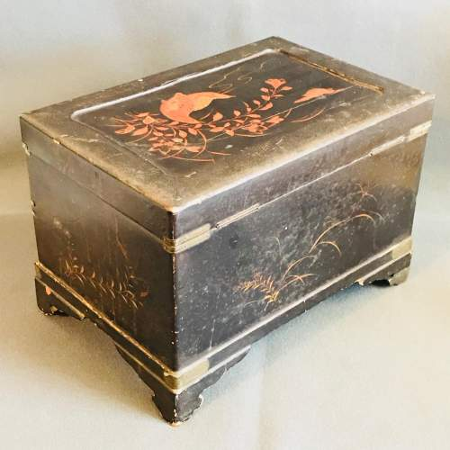 Oriental Lacquer Jewellery Work Box image-6