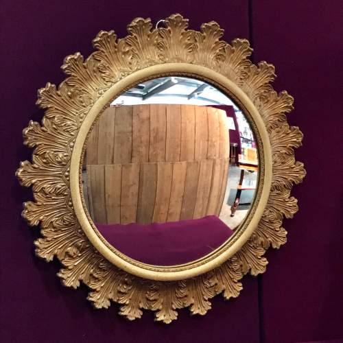 Vintage Sunburst style Convex Wall Mirror image-1