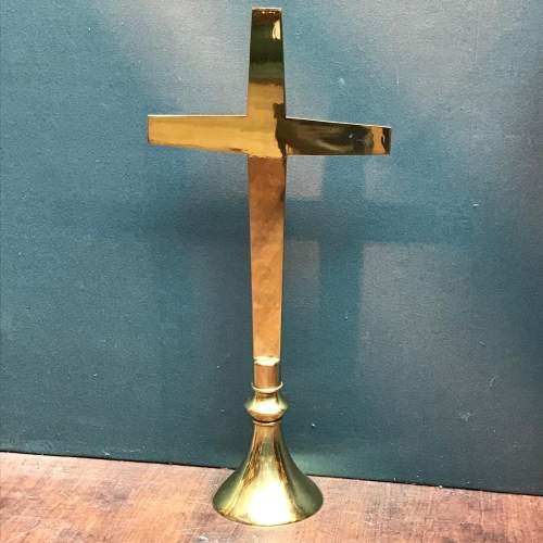 Large Solid Brass Crucifix image-1