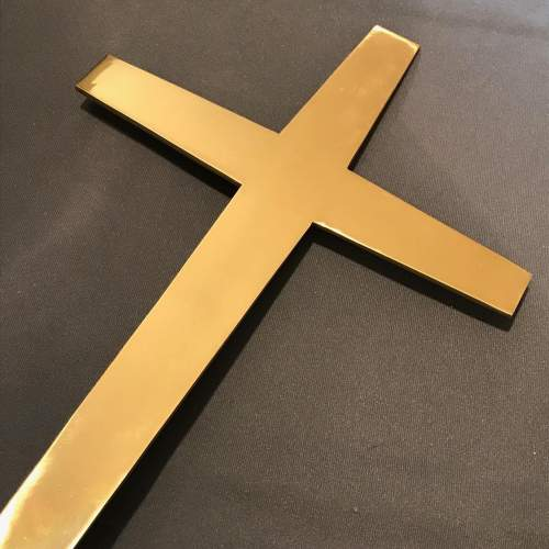 Large Solid Brass Crucifix image-2