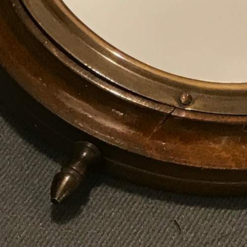 Small Wooden Framed Ships Wheel Mirror image-2