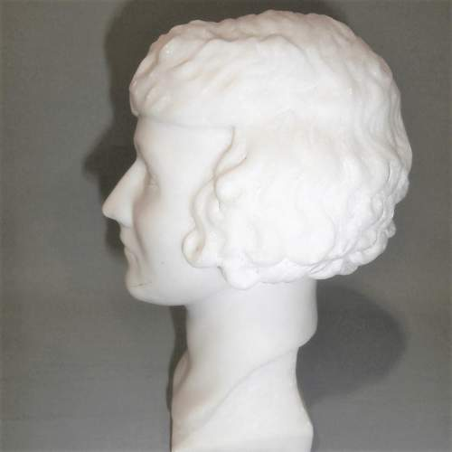20th Century English School of Marble Head of a Young Lady image-1