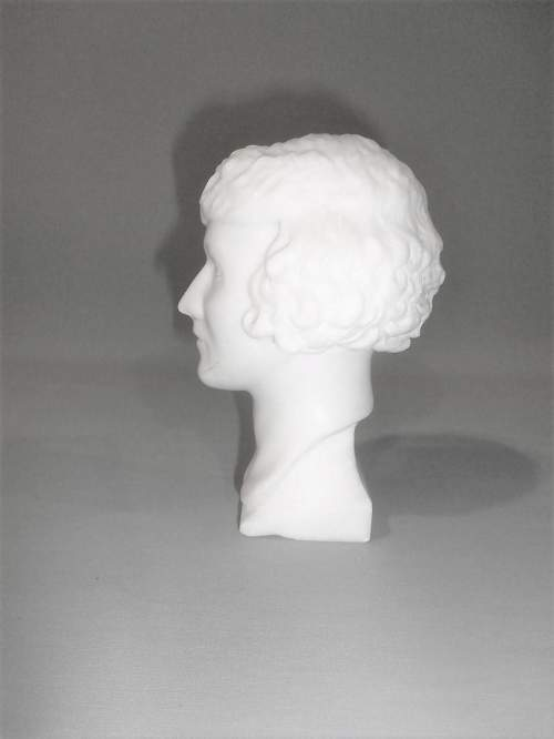 20th Century English School of Marble Head of a Young Lady image-6