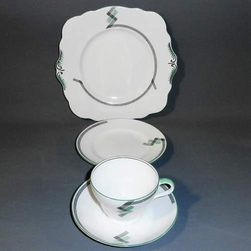 1930s Art Deco Foley China for E Brain Co. Part Tea Set image-2