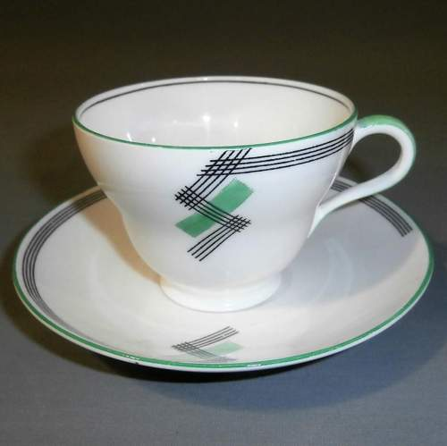 1930s Art Deco Foley China for E Brain Co. Part Tea Set image-4
