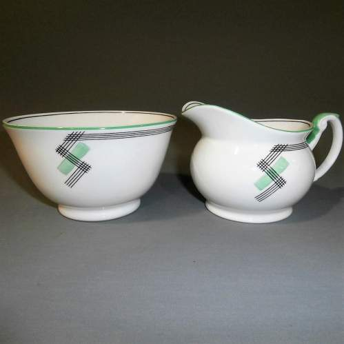 1930s Art Deco Foley China for E Brain Co. Part Tea Set image-6