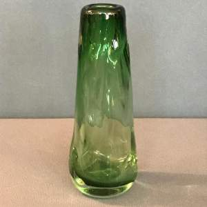 Whitefriars Knobbly Meadow Green Glass Vase