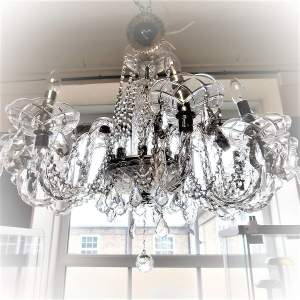 Ten Branch Crystal Electric Chandelier