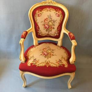 Vintage Cream Framed Parlour Chair