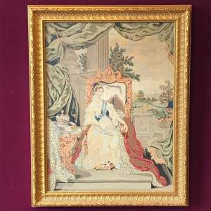 19th Century Tapestry Of Queen Victoria