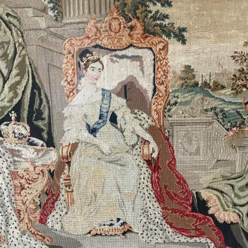 19th Century Tapestry Of Queen Victoria image-2