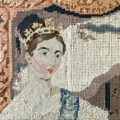 19th Century Tapestry Of Queen Victoria image-3