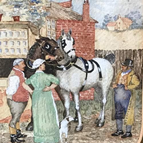 Pair of 19th Century English School Watercolours image-6