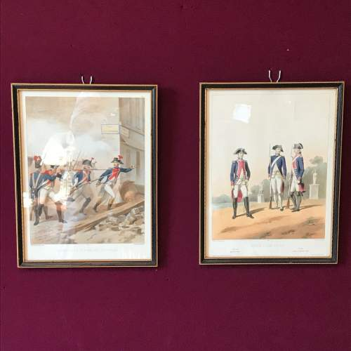 Pair of Early 19th Century French Military Prints image-1