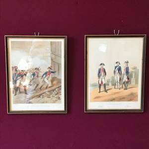 Pair of Early 19th Century French Military Prints