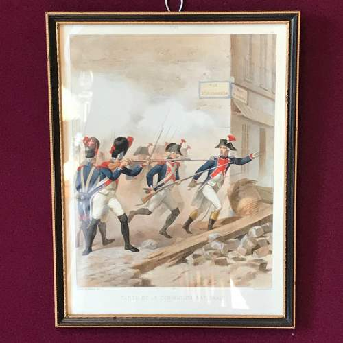 Pair of Early 19th Century French Military Prints image-2