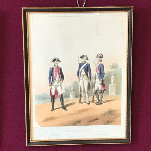 Pair of Early 19th Century French Military Prints image-3