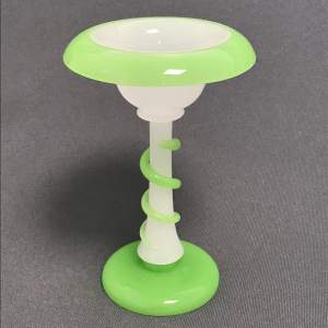 19th Century Opaline Glass Pedestal Dish