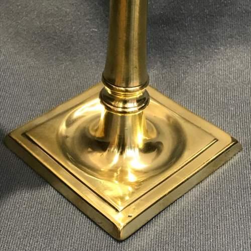 Rare 18th Century Seamed Brass Candlestick image-3
