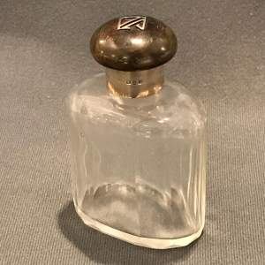 1920s Gentlemans Silver Topped Cologne Bottle