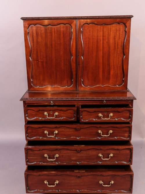 Victorian Mahogany Fitted Cabinet on Chest image-5