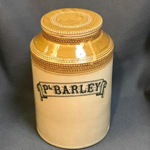 Scottish Pearl Barley Storage Jar