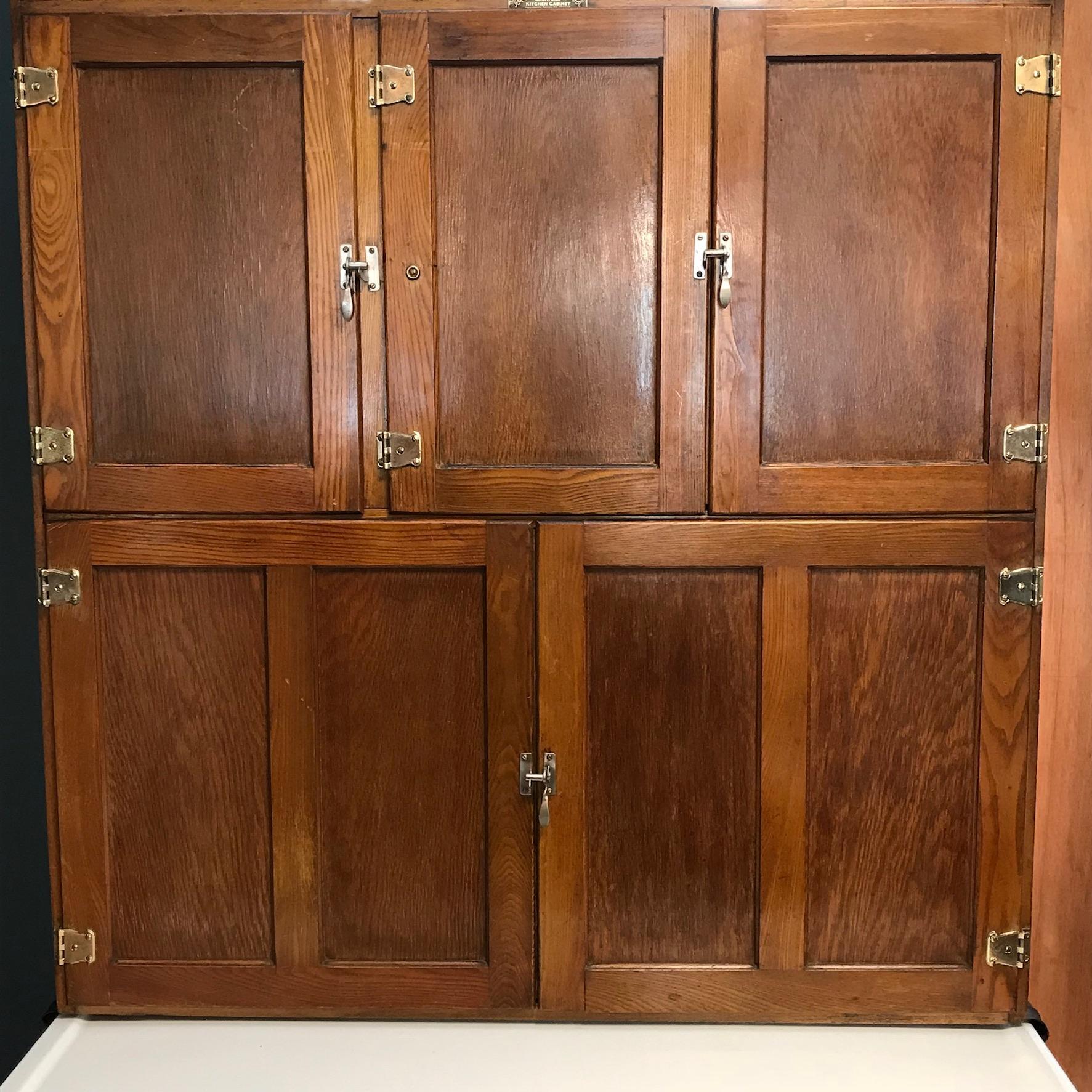 1920s Easiwork Oak Kitchen Cabinet - Furniture etc ...