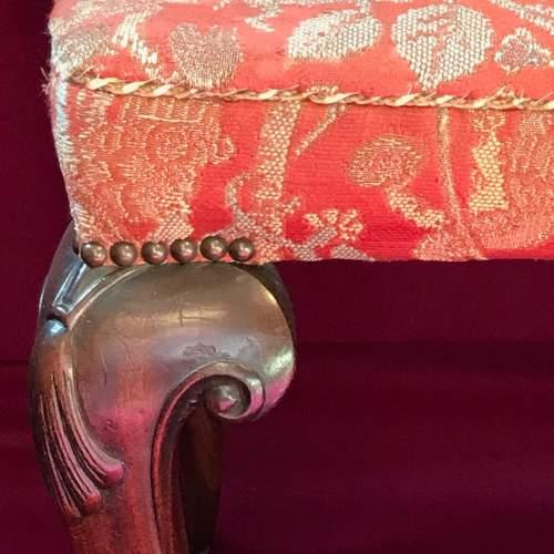 George II Mahogany Stool image-2