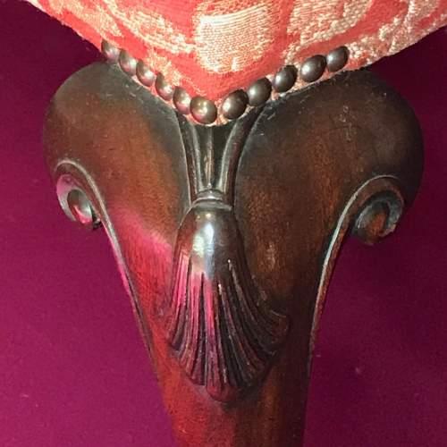 George II Mahogany Stool image-3