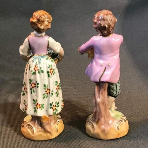 Pair of Dresden Figures image-4